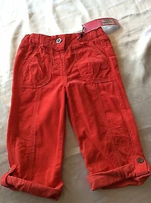 Girls Marks And Spencer Pink Cords Jeans 1.5 - 2 Years BNWT