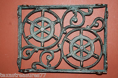 (2),ships Wheel,helm,bronzed Antique Look,shelf Brackets,corbels,beach Decor,b31