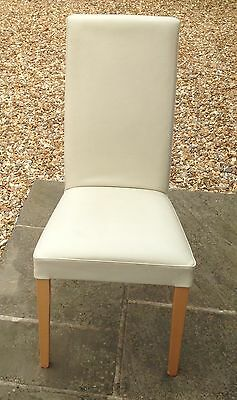 Leather High Back Dining Chair