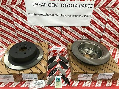 2008-2013 Highlander Genuine Oem Toyota Rear Brake Rotors Pads & Shims