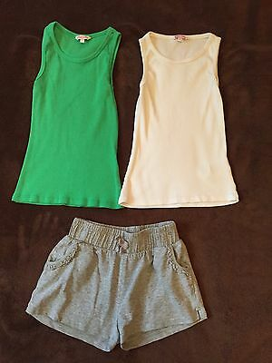 Girls 2xvest And Shorts Set 7-8 Years Also Next Clothes Listed