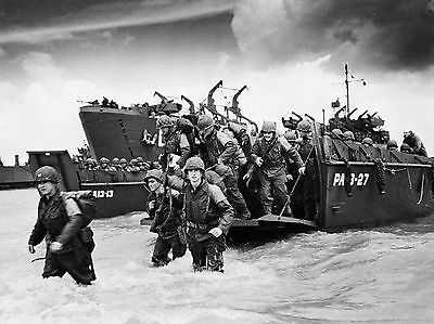 New 6 X 4 Photograph Ww2 D Day Normandy 1