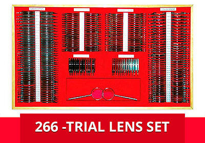 Trial Lens Set ARGO 266 Pieces (Metal Rims) Aluminum Case NEW