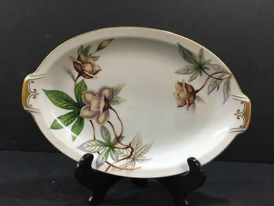 "Meito China Woodrose 12-3/4 "" Oval Serving Platter"