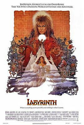 Labyrinth Movie POSTER 27 x 40, David Bowie, Jennifer Connelly, A, LICENSED NEW