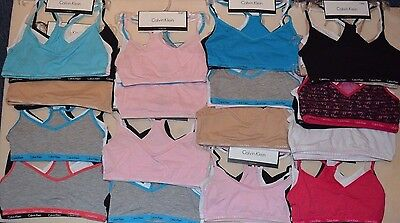 Girls 4-18 Years Calvin Klein Multi Colour Bra Tripple Pack x3