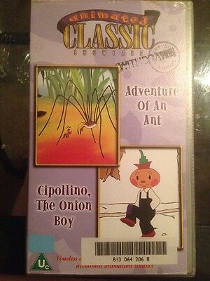 Animated Classic Adventure Of An Ant/Cipollino the Onion Boy VHS Video U Cert