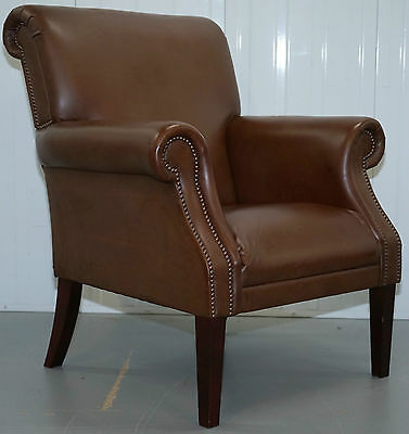 Silky Soft Leather Morston Armchair From Pf Collections Hand Made In Long Eaton
