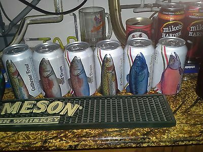 Busch Beer Cans Angler Series 6 Different Sport Fish Look Great In Man Cave USA