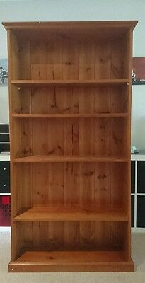 bookshelves. Natural wood, old library style.