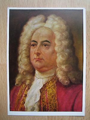 Postcard of Handel, Composer - Painting by A. Herrmann