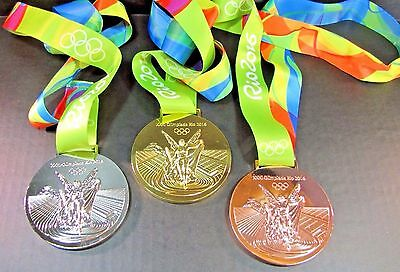 Rio 2016 Olympic Gold, Silver, Bronze Medal - Complete Set - Replica - Brand New