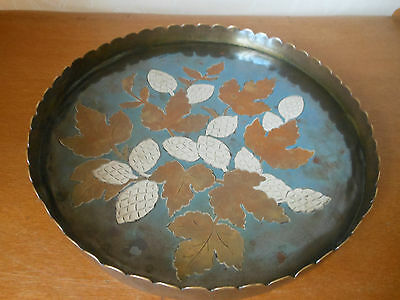 Rare - Benham and Froud Mixed Metal Tray designed by Christopher Dresser