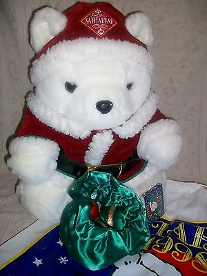 1998 Dayton Hudson Marshall Field Mr.Santa Bear With Bag Flip Book  Original Bag