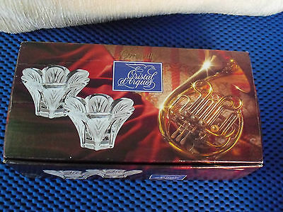 Lovely  Vintage Cristal Candle Holders Boxed