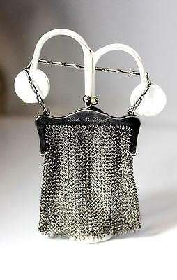 """Vintage Sterling Silver Chainmail Mesh Coin Purse w/Arrow Hallmark 2.5"""" – 10412"""