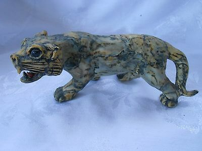 Wild Cat Tiger Papier Mache from China Figurine Lovely
