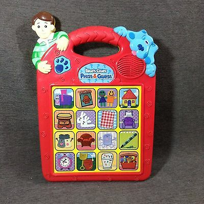 BLUE'S CLUES Toy / Game PRESS & GUESS Electronic Talking Learning Game 1998 TYCO