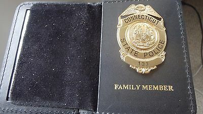 Connecticut  State Police Trooper Family Member Mass Highway Patrol Mini Badge