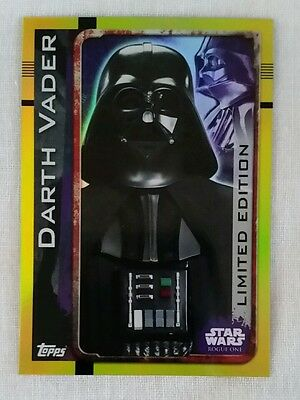 Topps UK Star Wars Rogue One Limited Edition card Darth Vader