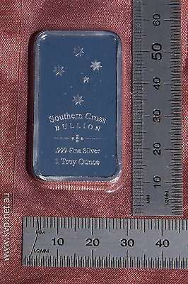 1oz Southern Cross 'Eureka' minted 99.9% .999 pure bullion silver bar