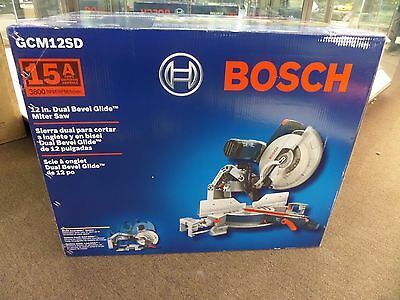 **NEW-FACTORY SEALED** Bosch GCM12SD 12 in. (305mm) Dual Bevel Glide Miter Saw