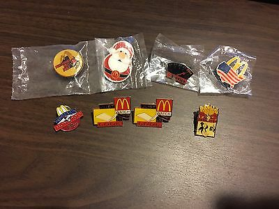 McDonalds Collectible Pins Lot of 8