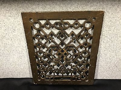 Vintage Iron Metal Heating Floor Wall Grate
