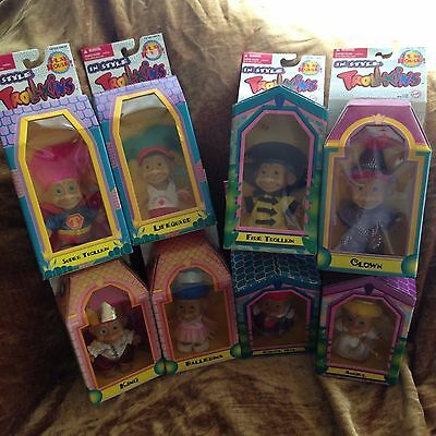 In Style Trollkins Lot of 8 Super Hero Ballerina Angel Clown School Girl + NIB