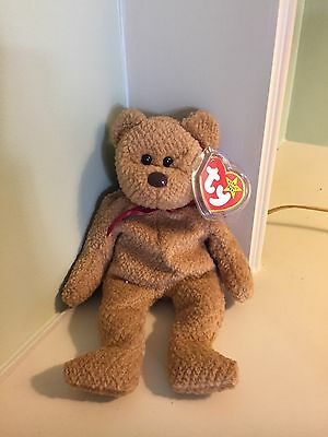 RARE Ty Beanie Baby CURLY BEAR 1996 with Errors #4052