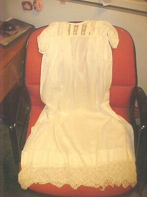 Vintage Christianing Gown Cotton and Lace Victorian Age