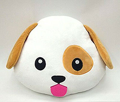 Dog Puppy Emoji Pillow Smiley Emoticon Cushion Stuffed Colorful Plush Toy 32cm