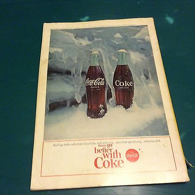 National Geographic  July 1964 With Vintage Coca- Cola Ad On Back