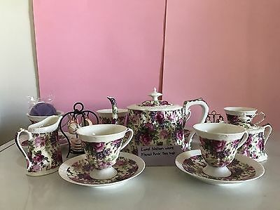 Beautiful Christmas Present Lord Nelson ware Floral Teaset