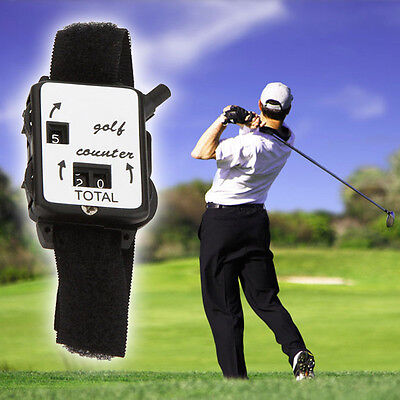 Golf Score Stroke Keeper Count Watch Putt Counter Shot With Wristband Plastic