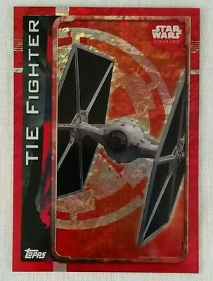 Topps UK Star Wars Rogue One Holographic Foil card TIE Fighter 184