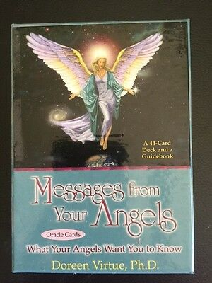 MESSAGES FROM YOUR ANGELS ORACLE CARDS by Doreen Virtue - AS NEW!