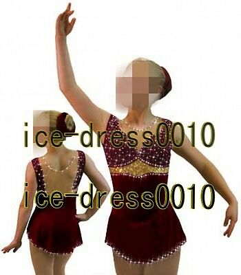 2016 New Exclusive Figure Skating competition Ice Skating Dress 8901