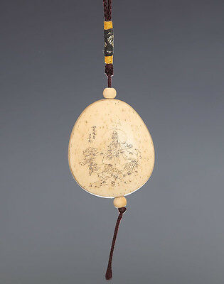 Exquisite Rare Chinese Hand Carving GuanYin Wooden Pendant 259GD