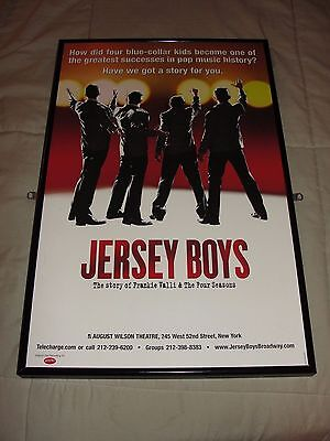 Jersey Boys - Broadway Window Card - 1 Autograph (Unsure Of Name) - Vg - P459