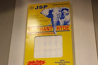 "500 Elephant Hyde White Jewelry Repair ID Tags 1 3/4"" Tyvek no adhesive center"