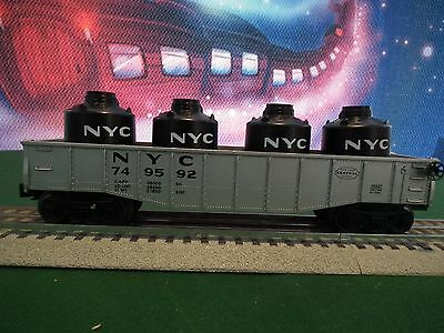 Lionel 6-26327 NYC GONDOLA W/CANISTERS BUILT 1-06