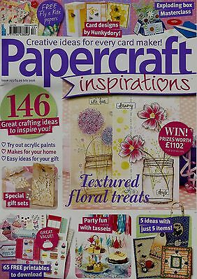 Papercraft Inspirations  Magazine Issue 153.  July 2016   Free Gifts
