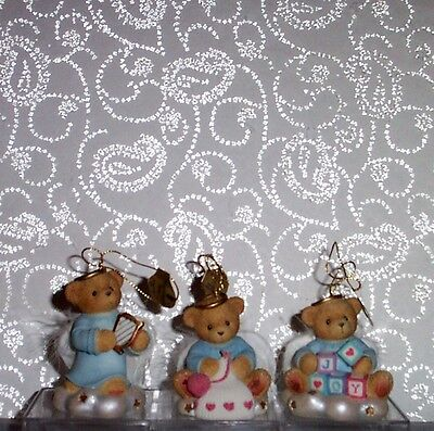 Bradford Editions Angels Cherished Angel Teddies Baby Ornament Collection #5