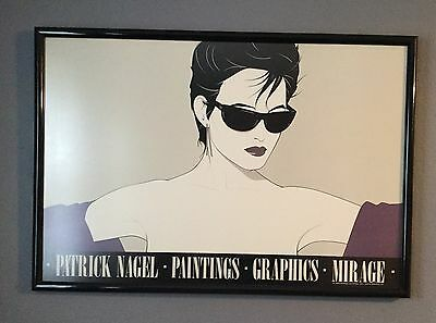 "Framed 1983 Patrick Nagel Signed Serigraph Mirage Edition ""Sunglasses"""