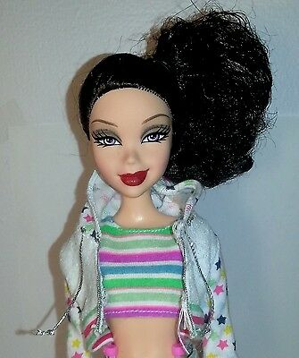 My Scene Swappin Style Nolee doll 2006 Girl Doll Asian Smirk Swap Head RARE