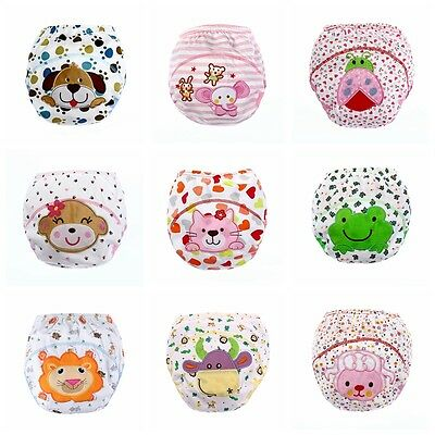 Baby Infants Diapers Reusable Nappies Cloth Washable Training Pant Cotton Nappy