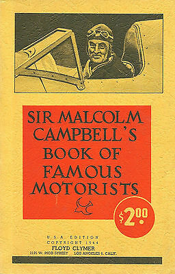 1940'SThe Sensational Book of RACING By Sur Malcolm Campbell of England