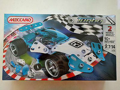 MECCANO Turbo 4353B | 2 Car Models | 90+ Parts | Ages 7 to 14 - New in box