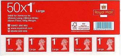 Brand New 100 First Class Large Letter Post Postal Stamps Uk large letter